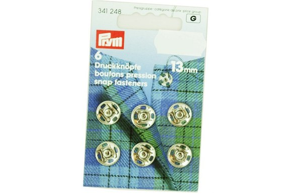 Snap fasterns from Prym 6 pcs. 13 mm