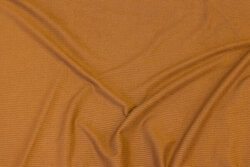 Soft, cinnamon-colored jersey , corded along length