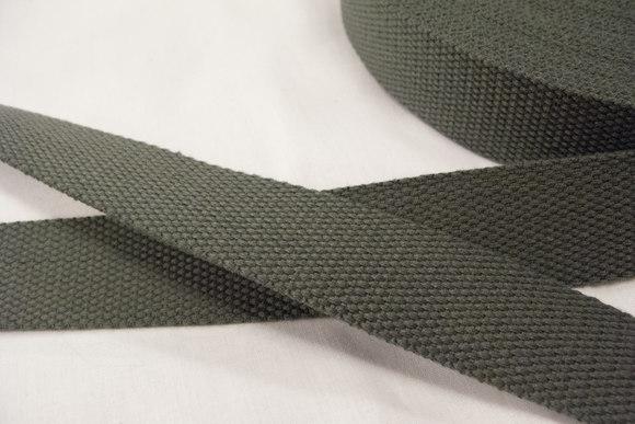 Strap cotton 3 cm grey