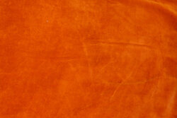 Stretch-velvet in burned orange
