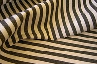 Sunchair fabric in dusty black and white 10mm. stripes