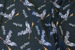 Deep dark green cotton-jersey with Harry Potter motifs