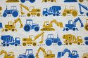 Light speckled beige with ca. 5 cm tractors
