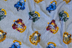 Speckled grey cotton-jersey with harry potter motifs