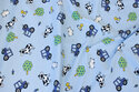 Light blue cotton-jersey with farm life motifs