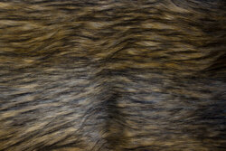 Faux long-haired luxus fur in light brown and grey nuances