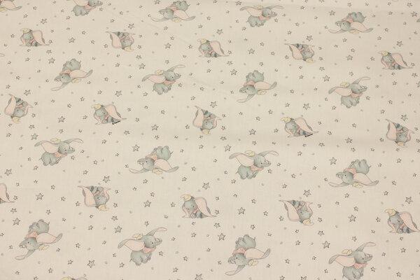White cotton-poplin with Dumbo