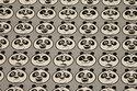 Grey cotton with panda-heads