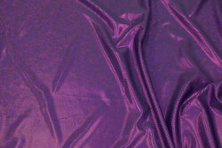 Purple foil-jersey with glimmer