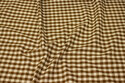 Recycled cotton in 1 x 1 cm checks in brown and off white
