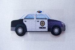 Police car patch 7x3cm