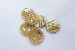 Brown/beige button, 4 holes 2cm
