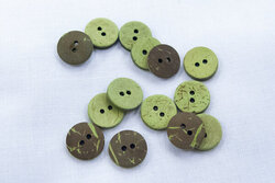 Coconut button lime 12mm