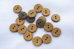 Coconut button clay 12mm