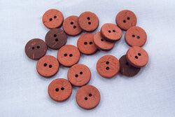 Coconut button brick red 12mm