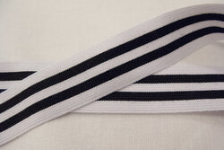 Elastic stripes black/white 3cm