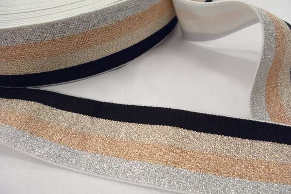 Elastic gold,silver,copper and black - 4 cm