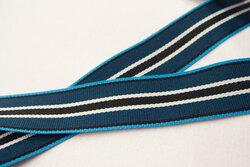 Ribbon petrol stripes 2cm