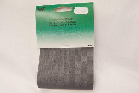 Twill patch, grey, 10x40cm