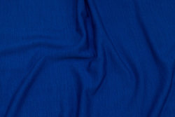 Very light jersey in cobolt-blue wool and acryllic with stretch