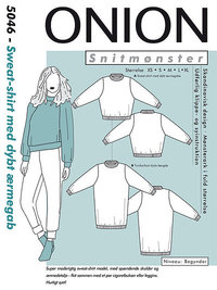 Onion 5046. Sweat-shirt with depth in sleeve entrance.