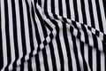Cotton-jersey with 10 mm black and white stripes