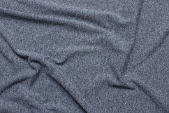 Dark grey speckled cotton-jersey