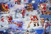 Light blue jule-cotton-jersey with santas
