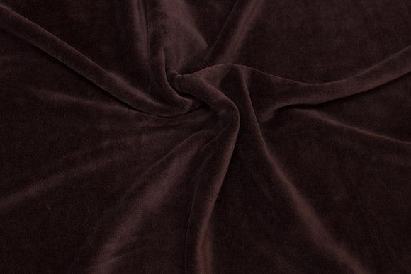 Dark brown stækvelour