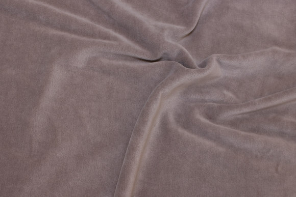 Dark sand-colored stretch velvet