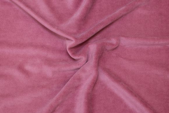 Old soft red stretch velvet