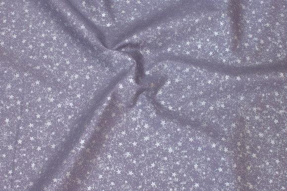 Light grey cotton with stjernestøv-print