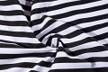 Black-white cotton-twill with 15 mm stripes
