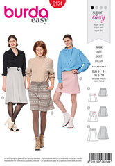 Skirt , Slightly flared, Stretch waistband. Burda 6154.