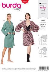 Kimono, Bath robe. Burda 6161.