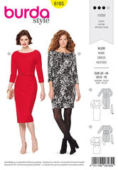 Dress, figure-fitting. Burda 6165.