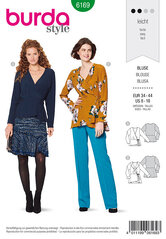 Wrap blouse, Peplum. Burda 6169.