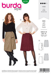 Wrap skirt, Flared. Burda 6174.