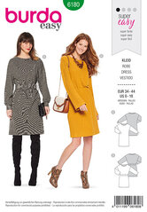 Shirtdress, Overcut shoulders. Burda 6180.