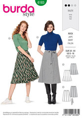 8-panel-skirt, Set in godets. Burda 6183.