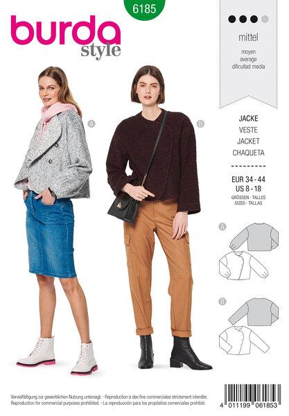Jacket, Cropped, Side fastening