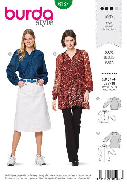 Blouse , Raglan Sleeves, A-Line