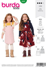 Bibbed skirt, Pinafore. Burda 9287.