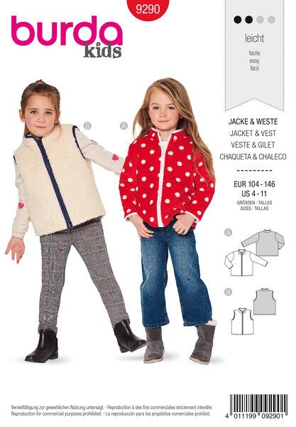 Jacket, Vest , with a zipper, Bound edges