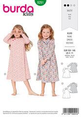 Dress,  Raglan sleeves, Flared. Burda 9291.