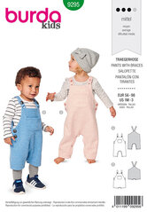 Bibbed trouserspants, Overalls with straps. Burda 9295.