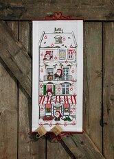 Christmas calendar Santa Claus´ house. Permin 34-0618.