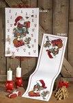 Permin 34-5641. Christmas calendar with fox, squirrel and santa claus.