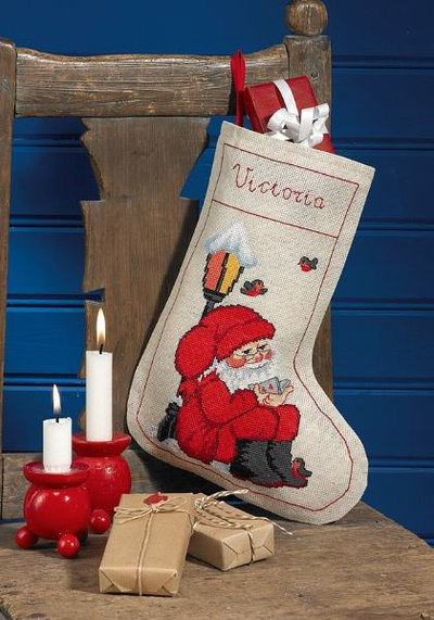 The elf below the lamp, christmas stocking
