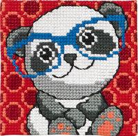 Panda with glasses. Permin 9120.
